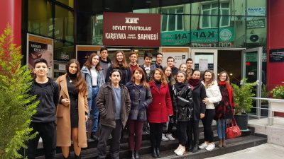 TİYATRO KULUBÜ İLE ''ARF SABİTİ''ADLI OYUNU SEYRETTİK
